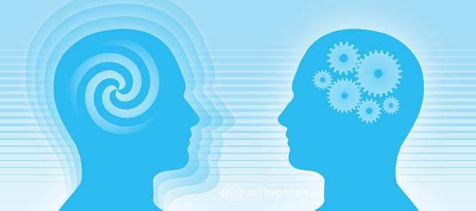 Illustration pour représenter l'hypnothérapie et une autre pour la psychothérapie.