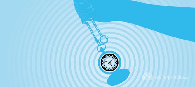Illustration d'une montre de poche avec effet hypnotique